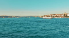 Boar Swims at Golden Horn (Halic) Bay in Istanbul, Turkey Stock Footage