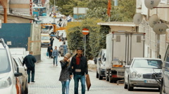 Istanbul, Turkey - Ordu Caddesi Street in Sultanahmet District Stock Footage
