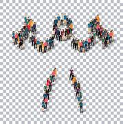 People sports body-building vector Stock Illustration