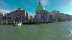 Background in beautiful evening light at sunset, San Marco, Venice, Italy Stock Footage