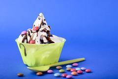 frozen yogurt - stock photo