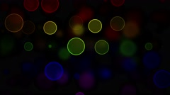 LGBT Flag with Blured Circles Effect - stock footage