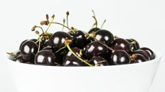 Fresh, ripe, juicy cherries rotate clockwise Stock Footage