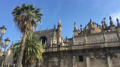The Seville Cathedral in Spain Stock Footage