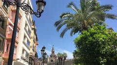 Cathedral de Sevilla in the old town of Sevilla Stock Footage