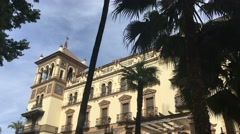 Hotel Alfonso XIII in Seville Stock Footage