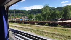 Leaving Sevnica station in Slovenia Stock Footage