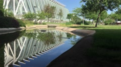 Museo de las Ciencias Principe Felipe at the City of Arts and Sciences Stock Footage