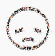 people emoticon smiley icon - stock illustration