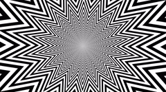 black and white hypnotic shape with optical effect - stock footage