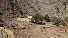 Sultanate of Oman, Musandam peninsula, Gulf of Oman, ancient Village of Haffa Stock Footage