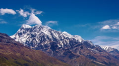 Himalayas Mountains View From Annapurna Trail, Nepal - stock footage