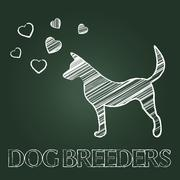 Dog Breeders Meaning Pedigree Breeding And Reproduce - stock illustration