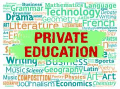 Private Education Indicates Non Government And Learning - stock illustration