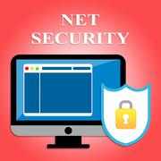 Net Security Shows Protected Web Site And Communication - stock illustration