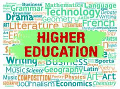 Higher Education Representing Tertiary School And Study Stock Illustration