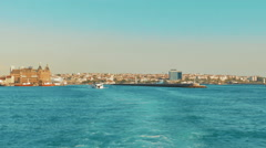 Asian Part of Istanbul as Viewed From Ferry Stock Footage