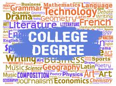 College Degree Indicating Learn Qualification And Educated - stock illustration