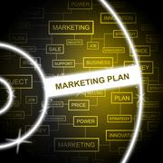 Marketing Plan Meaning Sales Promotions And Agenda Stock Illustration