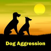 Dog Aggression Means Puppies Angry And Hostile Stock Illustration