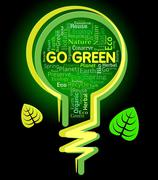 Go Green Means Earth Friendly And Environment - stock illustration