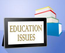 Education Issues Showing Training Tutoring And Web Stock Illustration
