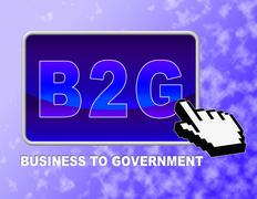 Mouse Online Representing Business To Government And Web Site - stock illustration