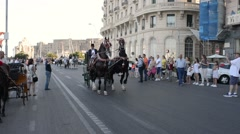 Editorial use only -  Equestrian parade of historic carriages - Naples-  IT Stock Footage
