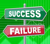 Success Failure Represents Disaster Victory And Board Piirros