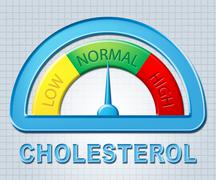 Normal Cholesterol Meaning Hyperlipidemia Cholesterin And Usual - stock illustration