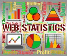 Web Statistics Representing Charts Infochart And Graphs - stock illustration