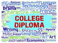 College Diploma Means Bachelors Educate And Learning Stock Illustration