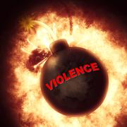 Violence Bomb Represents Brutishness Violent And Blast - stock illustration