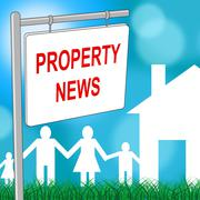 Property News Indicates Real Eestate And Advertisement - stock illustration