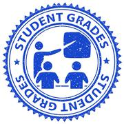 Student Grades Representing Score Print And Study - stock illustration