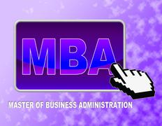 Mba Button Means Master Of Business Administration - stock illustration