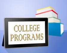 College Programs Means Schools Tablets And University Stock Illustration