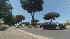 Cars go around. Higway in Rome, Italy Stock Footage