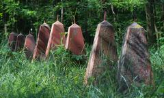 The graves of Soviet soldiers Stock Photos
