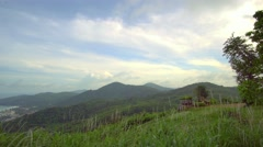 Mountains of Phuket Thailand view from Big Budha Statue Stock Footage