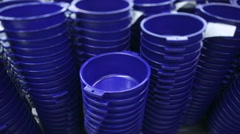 Production process of plastic cans. Plastic recycling Stock Footage