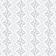 Stylized Four-Petal Flower Background Stock Illustration