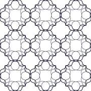 Interlaced Linear Pattern Stock Illustration