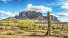 Time lapse of Superstition Mountains Stock Footage