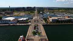 4K UltraHD Timelapse view from Bicentennial Tower in Erie, Pennsylvania Stock Footage