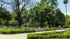 Panning time lapse of Parque de Maria Luisa in Seville Stock Footage