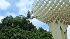 Close-up view of the Metropol Parasol in Seville Stock Footage