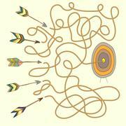 Labyrinth for kids Stock Illustration