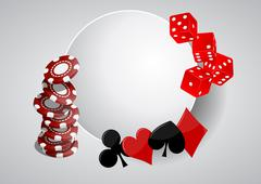 Illustration of object casino with blank area Stock Illustration