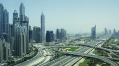 Time lapse of traffic near the Dubai Marina (2) Stock Footage